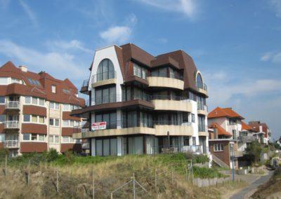Schilderwerken Vandaele schilderen exterieur residentie Oostduinkerke
